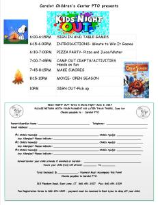 6-3-2017-SOUTH Kids Night Out sign up-CAMP OUT