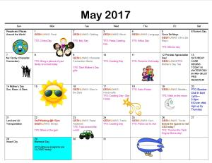 Clubhouse Programs May 2017