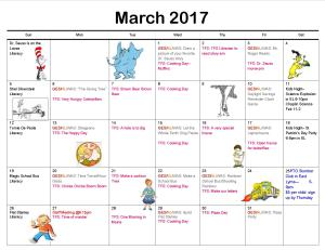 Programming Calendar- Clubhouse Programs March 2017