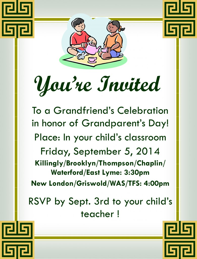 Grandfriends Celebration- All sites- SEPT
