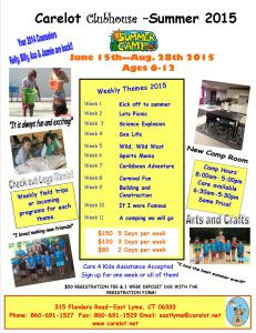 2015 Carelot Summer Camp Flyer & Registration Form-School Age