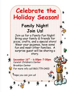 12-2-2015- Brooklyn Family Fun Night- post and email to families