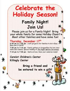 12-2-2015-Killingly Family Fun Night- post and email to families
