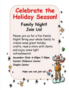 12-7-2015-Chaplin Family Fun Night- post and email to families