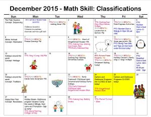 Programming Calendar- Clubhouse Programs Oct 2015 to Feb 2016